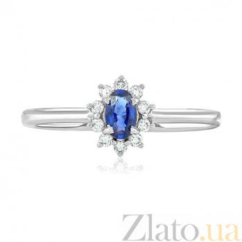 Золотое кольцо с сапфиром и бриллиантами Диана EDM--КД7550/1САПФИР