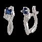 Серебряные сережки с синими фианитами Жаклин SLX--СК2ФС/008