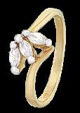 Серебряное кольцо с фианитами Мирела