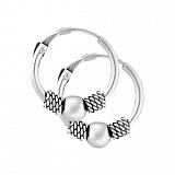 Сережки-кольца из серебра Кларибэль