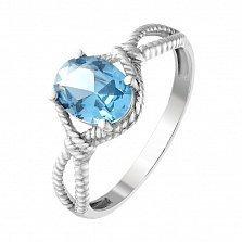 Серебряное кольцо Висконсин с голубым кварцем