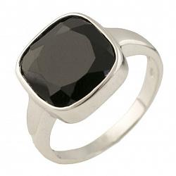 Серебряное кольцо Изида с черным ониксом