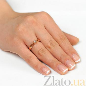 Золотое кольцо с одним бриллиантом Сияние EDM-КД7481