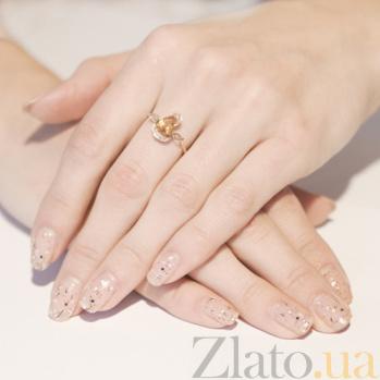 Золотое кольцо с цитрином Sunny Citrine 140314к/цитрин