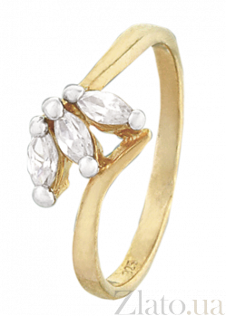 Серебряное кольцо с фианитами Мирела 000025602