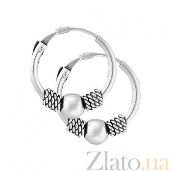 Сережки-кольца из серебра Кларибэль SLX--С5/312