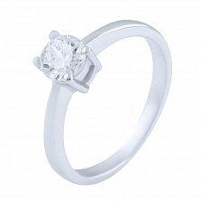 Серебряное кольцо Дарья с фианитом