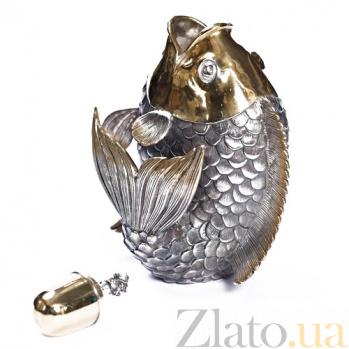 Серебряный графин Рыбка 1051