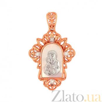 Ладанка с ликом Владимирской Божьей Матери VLT--Е3425
