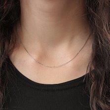 Серебряная цепочка Нить Ариадны с плетением граненый снейк, 0,5мм
