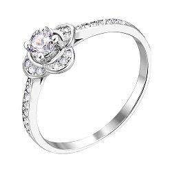 Серебряное кольцо с фианитами 000122624