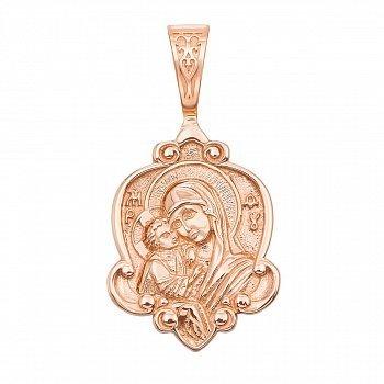Ладанка из красного золота Божья Матерь Владимирская 000134306