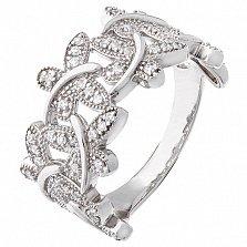 Серебряное кольцо Мотыльки с фианитами