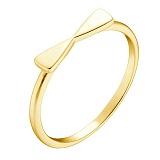 Кольцо Бантик в желтом золоте