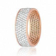 Позолоченное серебряное кольцо с фианитами Эллери