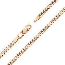 Браслет из красного золота в плетении Нонна с алмазной гранью 000117255, 4,5мм