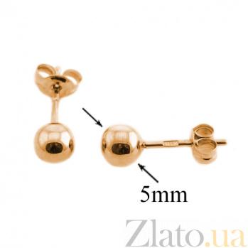 Золотые серьги-пуссеты Сара TNG--580055