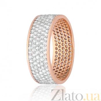 Позолоченное серебряное кольцо с фианитами Эллери 000028399
