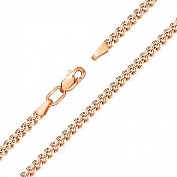 Браслет із червоного золота в плетінні Нонна з алмазною гранню 000117255, 4,5 мм