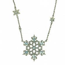 Колье из белого золота с бриллиантами и топазами Glaze