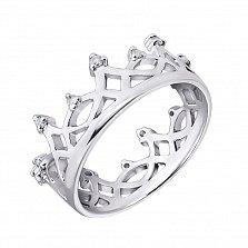 Серебряное кольцо с бриллиантами Аркадия