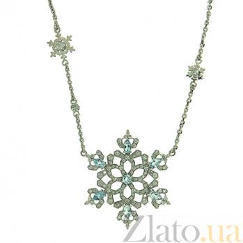 Колье из белого золота с бриллиантами и топазами Glaze ZMX--NDT-00341w
