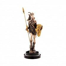 Бронзовая скульптура Пани победа с позолотой на мраморной подставке