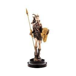 Бронзовая скульптура Пани победа с позолотой на мраморной подставке 000051932