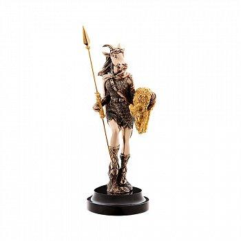 Бронзова скульптура Пані перемога з позолотою на мармуровій підставці 000051932