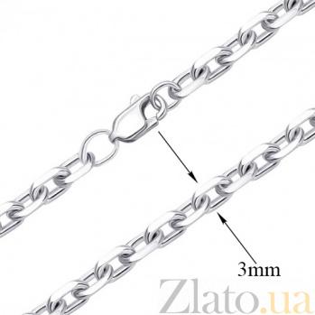 Серебряная цепь Магнолия в свободном якорном плетении, 3мм 000088875