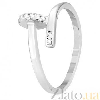 Кольцо из серебра Аврелина с фианитами в стиле Картье 000030929