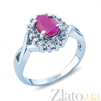 Серебряное кольцо Розитта с рубином и фианитами AQA--R02321Rb