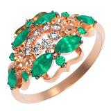 Золотое кольцо с хризопразом Флоренсия