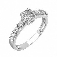 Кольцо из белого золота Оливия с бриллиантами
