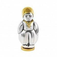 Серебряная солонка Мальчик с позолотой