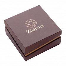 Брендовая упаковка Zlato для серег размером 100х100мм