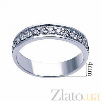 Серебряное кольцо с фианитами Виталия AQA--ПК-021