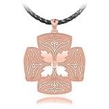 Крестик из розового золота с бриллиантом Тайна: Источник