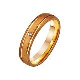 Золтое обручальное кольцо с фианитом Клеопатра