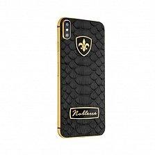 Apple iPhone XS Noblesse BLACK PYTHON в черной коже питона, серебре и золоте