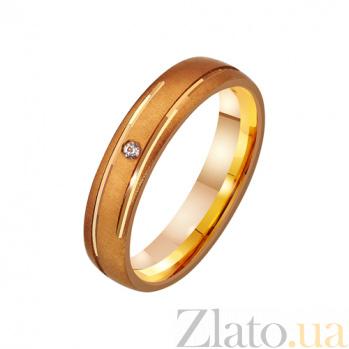 Золтое обручальное кольцо с фианитом Клеопатра TRF--412317