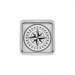 Запонки зі срібла з емаллю 000146412