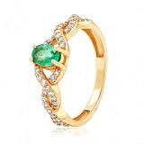 Золотое кольцо с изумрудом Изабель