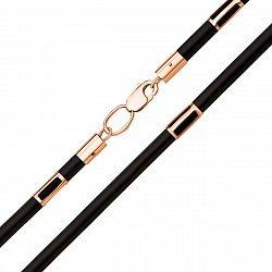 Шнурок из каучука с золотыми вставками и застежкой, 2мм000125983