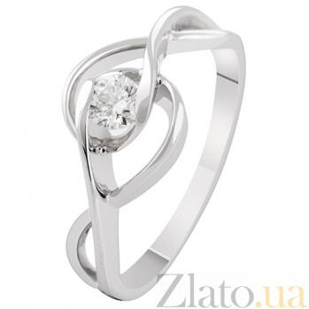 Золотое кольцо с бриллиантом Офелия KBL--К1898/бел/брил