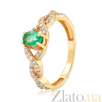 Золотое кольцо с изумрудом Изабель EDM--КД7530СМАРАГД