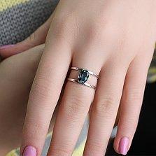 Кольцо из белого золота Альбина с топазом лондон