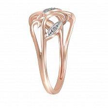 Кольцо Урсула из комбинированного золота с бриллиантами