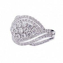 Кольцо из белого золота Карелия с бриллиантами