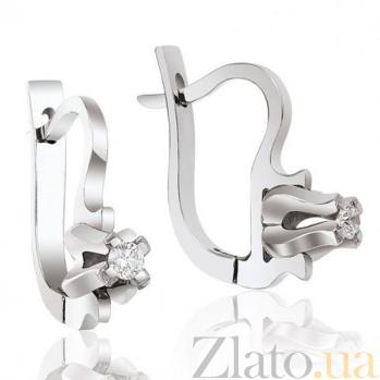 Серьги из белого золота с бриллиантом Абсолютная элегантность EDM-С7450/1